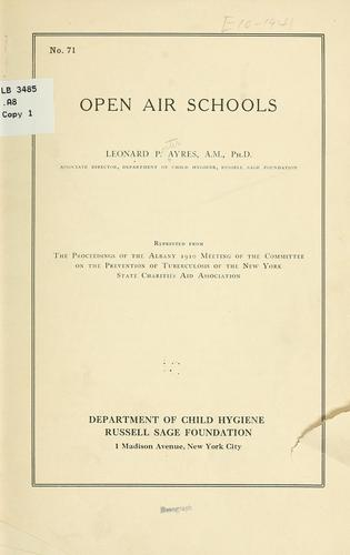 Download Open air schools