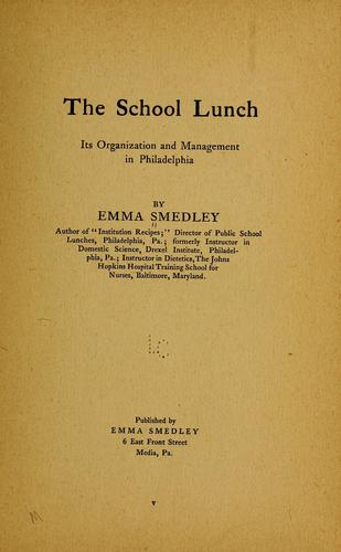 The school lunch