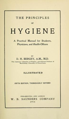 The principles of hygiene