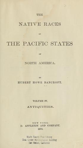 The native races of the Pacific states of North America.