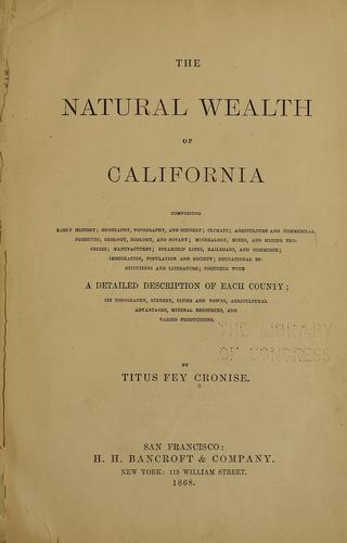 The natural wealth of California
