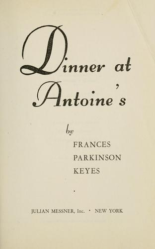 Download Dinner at Antoine's.