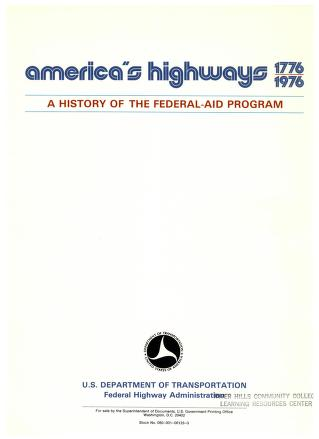 Cover of: America's highways, 1776-1976 by United States. Federal Highway Administration
