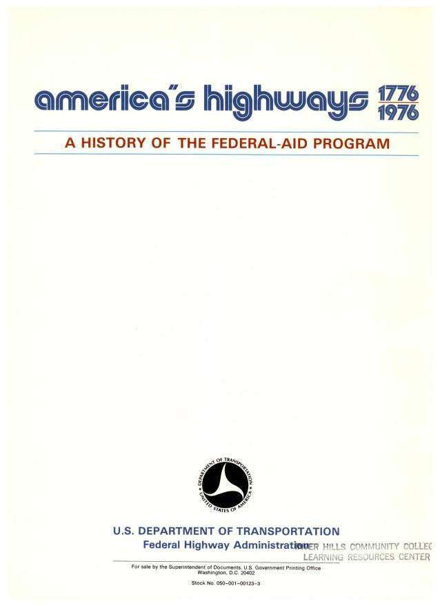 America's highways, 1776-1976 by United States. Federal Highway Administration