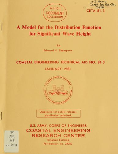 A model for the distribution function for significant wave height by Edward F. Thompson