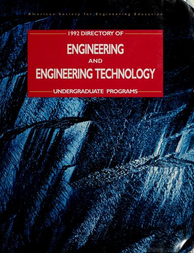 Directory of engineering and engineering technology undergraduate programs by American Society for Engineering Education